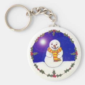 Llavero feliz del muñeco de nieve