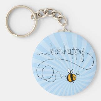 llavero feliz del rastro de la abeja