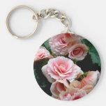 Llavero floreciente rosado de la begonia