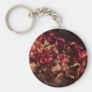 Llavero: Flores muertas del Bougainvillea Llavero Redondo Tipo Pin