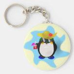 Llavero fresco del pingüino del verano