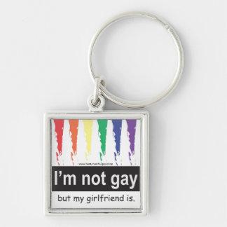 Llavero gay del cuadrado de la novia