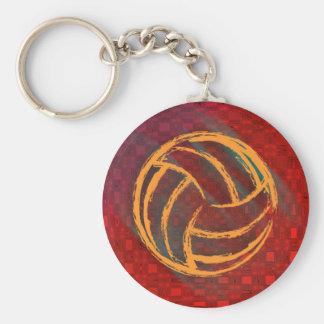 Llavero geométrico del voleibol