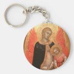 Llavero gótico de Madonna y del niño