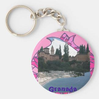 Llavero Granada fantasía, sierra,Alhambra, costa.