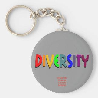 Llavero gris de encargo de la diversidad