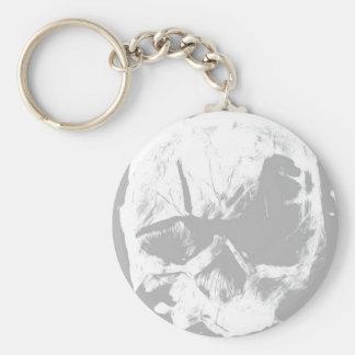 Llavero gris del cráneo
