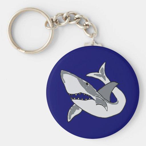 Llavero hambriento del tiburón del BA