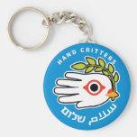 Llavero hebreo árabe de la paz
