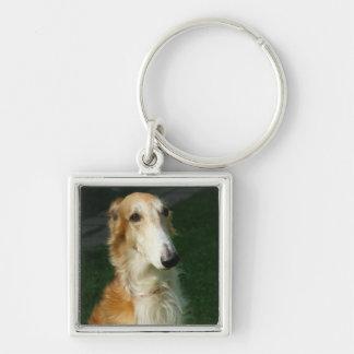 Llavero hermoso de la foto del perro del Borzoi