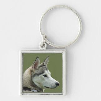 Llavero hermoso de la foto del perro siberiano for