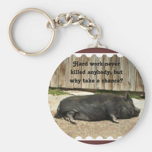 Llavero hinchado pote del cerdo