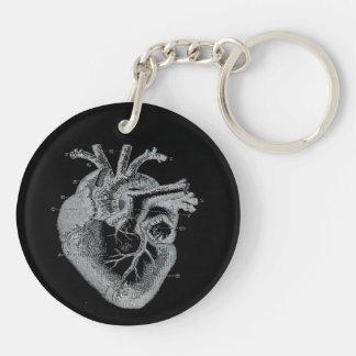Llavero humano anatómico del gótico del corazón