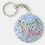 """Llavero inspirado de la """"alegría"""" de la palabra"""