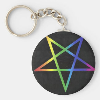 Llavero invertido del pentagram del arco iris