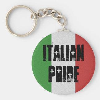 Llavero italiano de la bandera de Italia del orgul