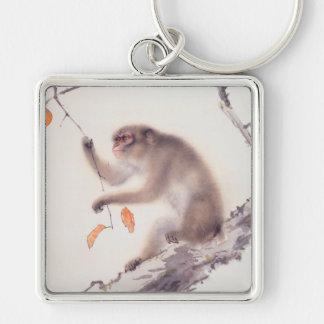 Llavero japonés del año del mono de la pintura del