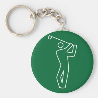 Llavero - jugador de golf