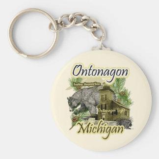 Llavero ligero de Michigan del faro de Ontonagon