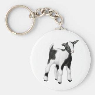 Llavero lindo de la cabra del bebé