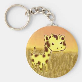 Llavero lindo de la jirafa