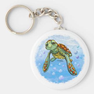 Llavero lindo de la tortuga de mar