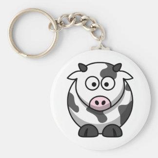 Llavero lindo de la vaca