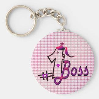 Llavero lindo del jefe del rosa #1 para ella