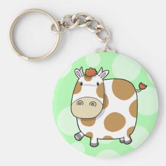 Llavero lindo estupendo de la vaca
