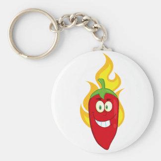 Llavero llameante de la pimienta de chile