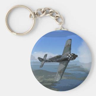 Llavero/llavero de Focke Wulf 190 Llavero Redondo Tipo Pin