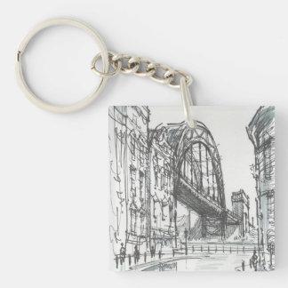 Llavero/llavero del puente de Tyne