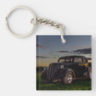 Llavero/llavero negros del coche del vintage