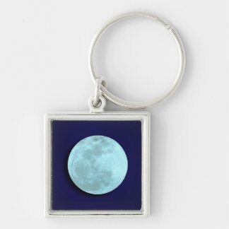 Llavero lleno de la luna azul