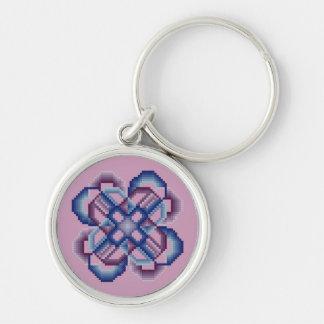 Llavero loco azul y púrpura de los círculos