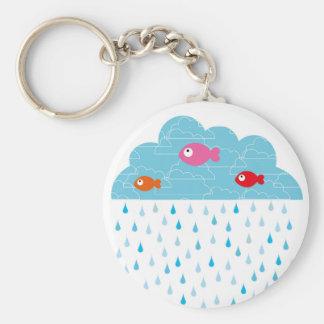 """Llavero """"los pescados en las nubes """""""