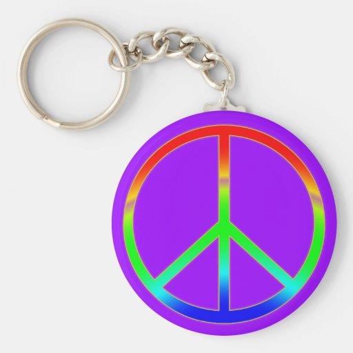 Llavero maravilloso del signo de la paz