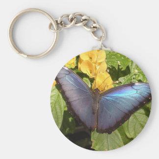 Llavero - mariposa azul