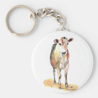 llavero marrón de la vaca