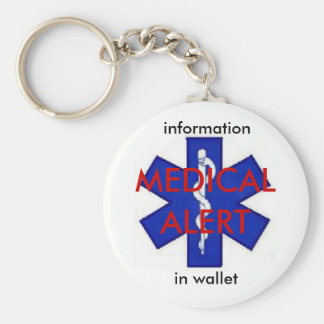 Llavero médico de la alarma Info