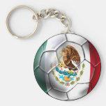 Llavero mexicano del balón de fútbol para las fans