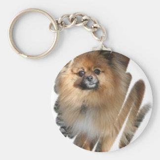Llavero miniatura de Pomeranian