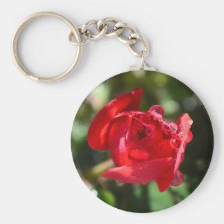 Llavero miniatura del rosa rojo