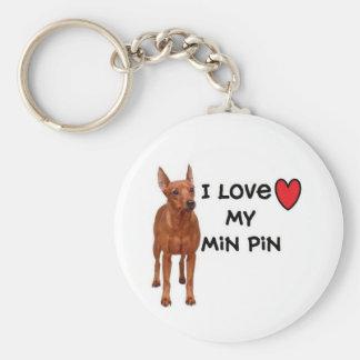 """Llavero mínimo del Pin """" amo mi Pin del minuto """""""