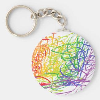 Llavero multicolor del arte moderno