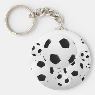 Llavero múltiple de los balones de fútbol