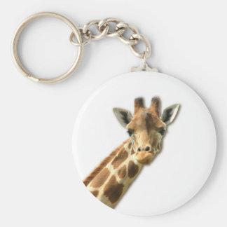 Llavero Necked largo de la jirafa