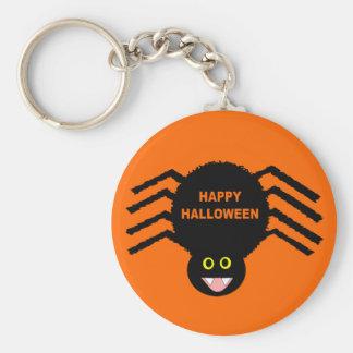 Llavero negro de Halloween de la araña
