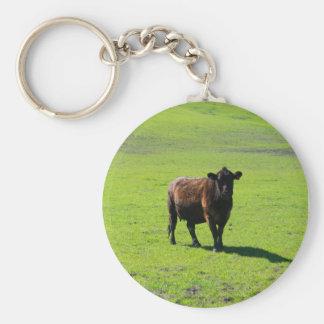 Llavero negro de la vaca