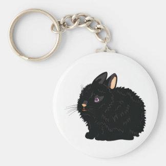 Llavero negro del conejo